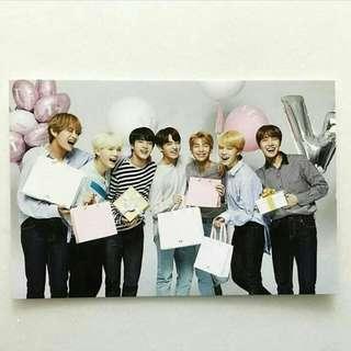 VT X BTS GROUP PHOTO CARD