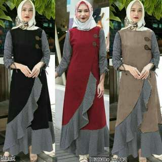 MF - 0118 - Dress Busana Muslim Clarita Maxi