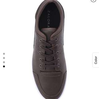 Zalora brown faux leather shoes