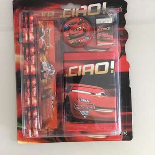 Cars wallet and stationary cars sets - children goody bag
