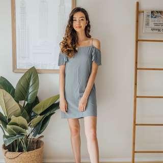 The Editors Market - Blue Grey Dress ✧ Tara Milk Tea