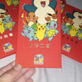 Pokemon 红包封 red packet hong bao  6pcs in packet