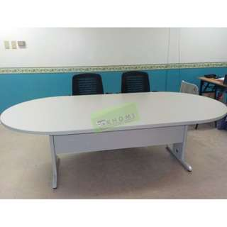 KHOMI--OVAL CONFERENCE TABLE & MESH CHAIRS--KHOMI