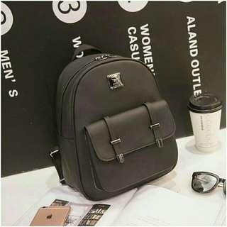 Black Stylish Travel Mini Backpack