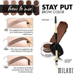 ORIGINAL Milani Stay Put Brow Pomade in Natural Taupe