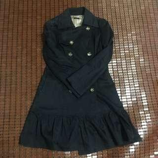 日牌黑色雙排扣大衣