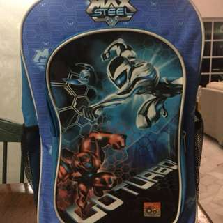 Max Steel Trolley School Bag