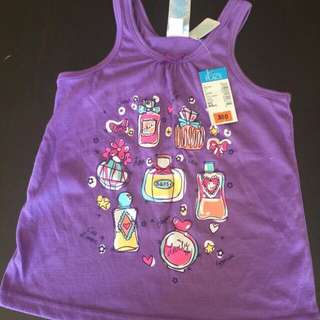 Place toddler sleeveless shirt