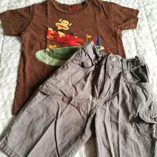 Short pants + t-shirt