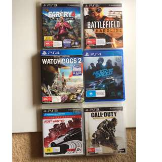 Assorted Playstation 4 & 3 Games