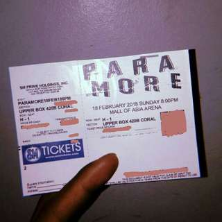 Selling: Paramore Tour Four Manila Ticket