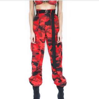 I.AM.GIA red camo pants