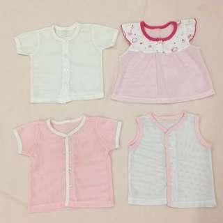 baby girls clothing eyelets tops jumbo set(pink)