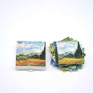 Van Gogh Paintings MINI Sticker Set