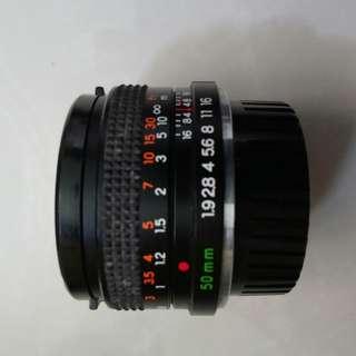 Yashica manual SLR film camera with 50mm prime lense