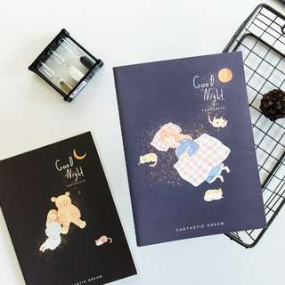 Good Night Girl Ruled Notebook B5