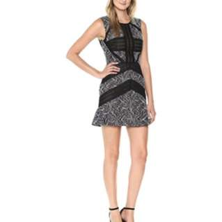 BCBG Black and Nude Lace Dress