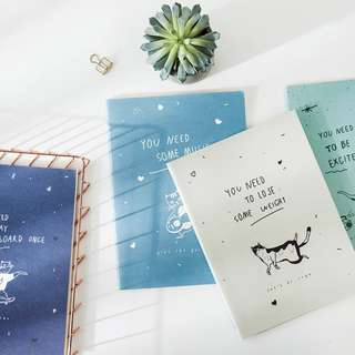 Happy Active Cat Ruled Notebook B5