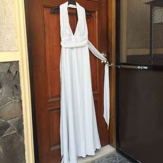 Bershka backless long gown Medium and Large