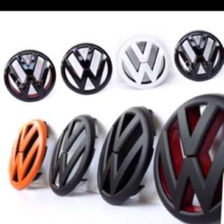 Modified Colored Volkswagen Emblem
