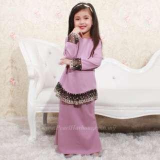 Baju Kurung Moden Lace Kanak kanak