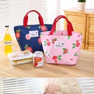 粉紅🍓草莓保冷熱便當袋