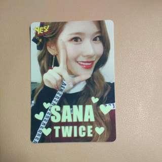Twice Sana夜光卡