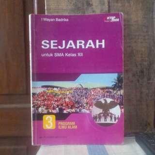 Buku pelajaran lama : SEJARAH untuk SMA ( terbitan tahun 2006 )