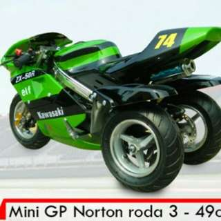 Mini GP norton roda 3 - 49cc