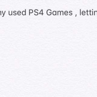 [USED] PS4 GAMES