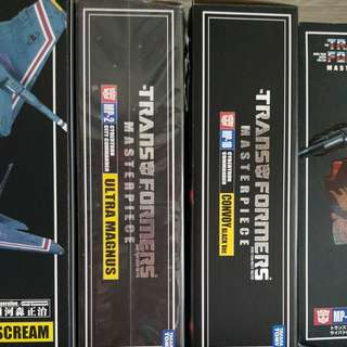Takara Transformers Masterpiece MP1, 1B and 2 n MP4