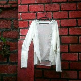 Rib Sleeve Sweater