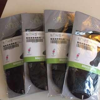 🚚 Snug 動能氣墊運動襪 size25~27 黑色 4雙