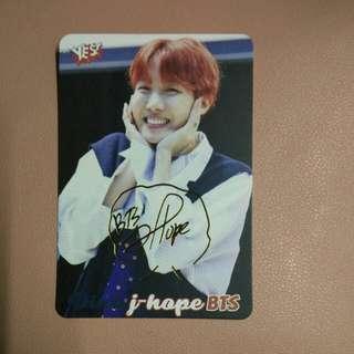BTS j-hope簽卡