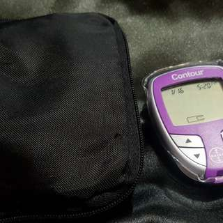 Purple Bayer Contour Blood Sugar Monitoring