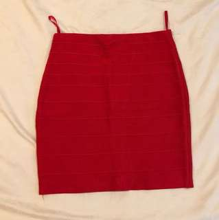 Red spandex skirt
