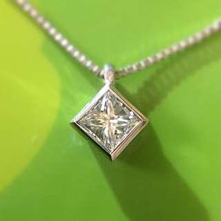 靚靚 18K 天然「公主」鑽石吊嘴連16吋金鏈