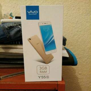 Vivo Y55s with box , charger , and 2 cases