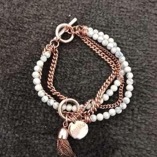 Mimco rose gold & white marble bracelet