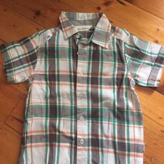 THE KIDSTORE - Size 3 Check Cotton Shirt (Νew)