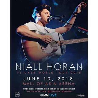 Looking For Niall Horan Tix sale price . pleasee pm me