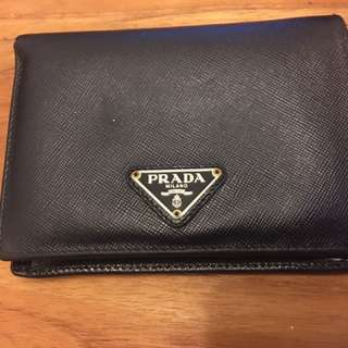 Prada black wallet (authentic)