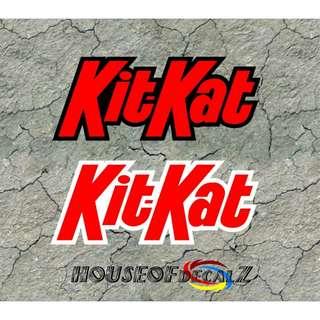 Diecut Dual color kitkat vinyl decal