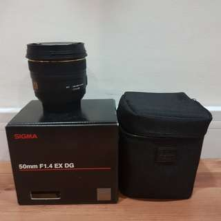 Sigma Ex 50mm f 1.4 Canon Mount