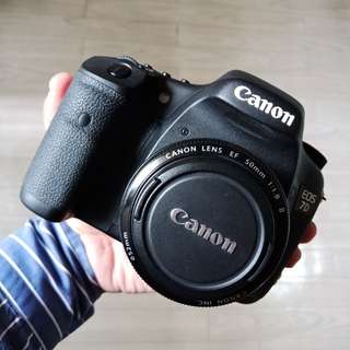 Canon 7D body with 50mm 1.8 ll Lens
