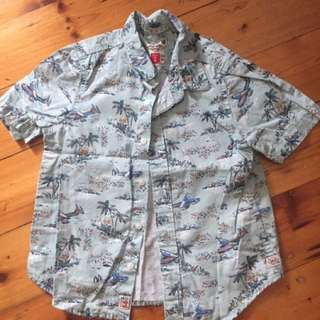 INDIE KIDS - Boys Size 2 Cotton Shirt (Excellent Condition)