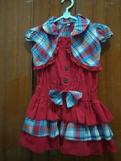 Dress Merah Jumpsuit Girl