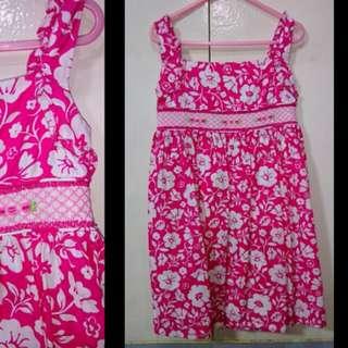 Pink Floral Girls Dress