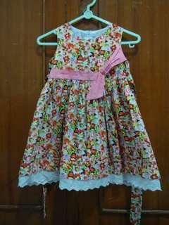 Dress Bunga Pink Girl
