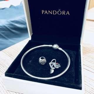 PANDORA硬環式圓釦手環